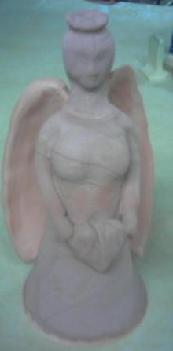 Ceramic Angel Pottery glazed