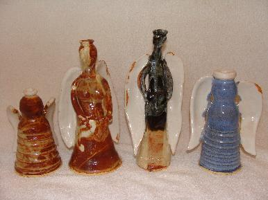 Angel Pottery, Pottery Angels, deangelis, clay, handmade